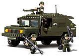 Конструктор SLUBAN M38-B9900 армія, військова машина, фігурки, 191 дет., кор., 28,5-28,5-5,5 см, фото 5