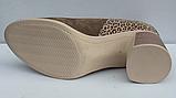 Туфли замшевые женские на каблуке от производителя модель ФТ37, фото 4
