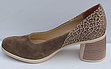 Туфли замшевые женские на каблуке от производителя модель ФТ37, фото 3