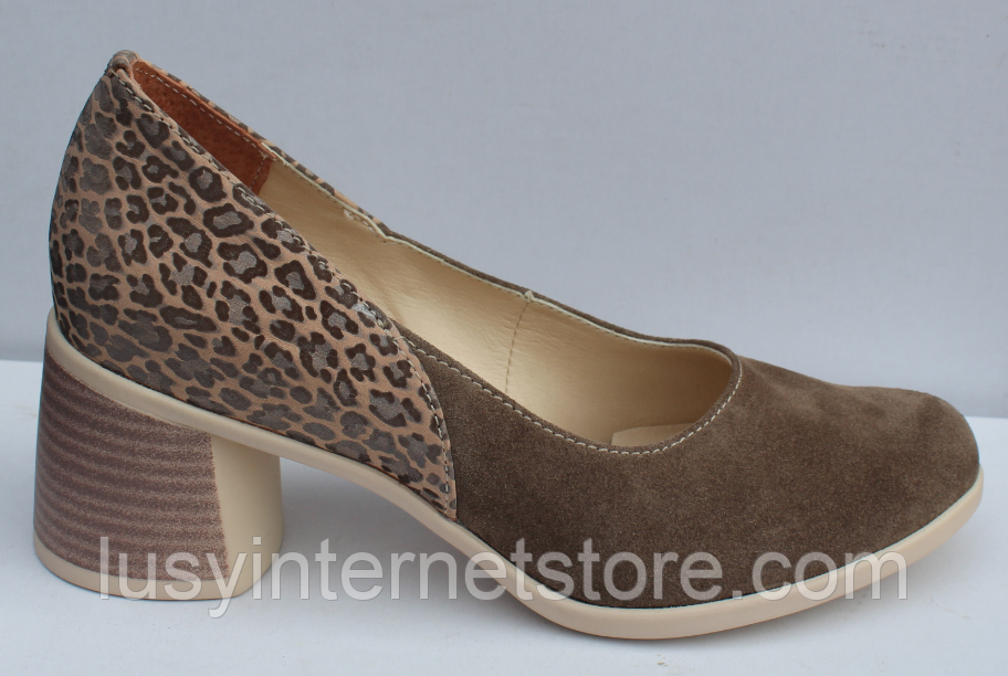 Туфли замшевые женские на каблуке от производителя модель ФТ37