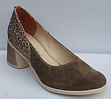 Туфли замшевые женские на каблуке от производителя модель ФТ37, фото 2