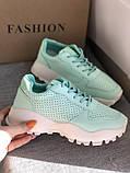 Мятные женские кроссовки на платформе, фото 5