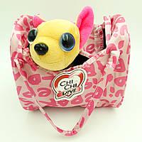Собачка в сумочке Chi Chi Love Чихуахуа в наряде и сумочкой 20 см Чи Чи Лав розовый