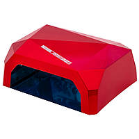 LED Лампа для ногтей маникюра Сушилка гибридная УФ LED+CCFL 36W UKC красная
