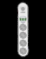 Сетевой фильтр удлинитель с USB выходами  4x220V и 4xUSB длина 2 м. LDNIO SE4432