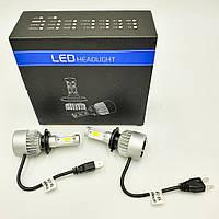 Комплект H7 2 LED світлодіодні лампи головного світла з вентилятором 12в COB 36Вт 6500K 8000Lm HeadLight S2 H7