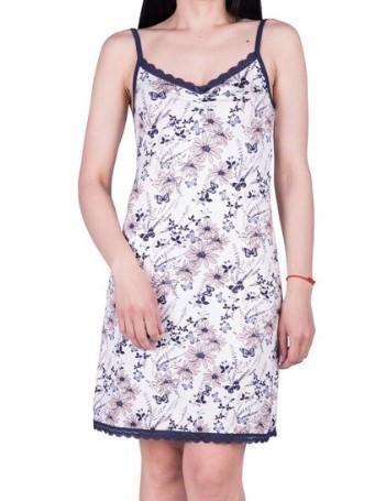 Ночная сорочка женская с кружевом Бабочки домашняя