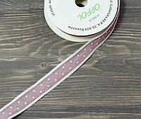 Лента тканнаяв горох 2,5 см *90 см. сирень, фото 1