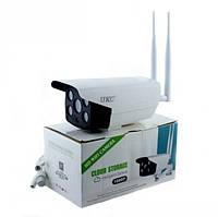 IP Камера відеоспостереження вулична Wi Fi HD 1080p 2 Mp UKC CAMERA CAD 90S10B біла
