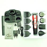 Акумуляторна машинка для стрижки волосся ніс вуса борода бритва тример 10 в 1 Gemei GM-592