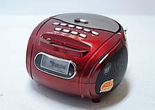 Портативная колонка бумбокс радиоприёмник USB SD пульт Golon RX 186 красный