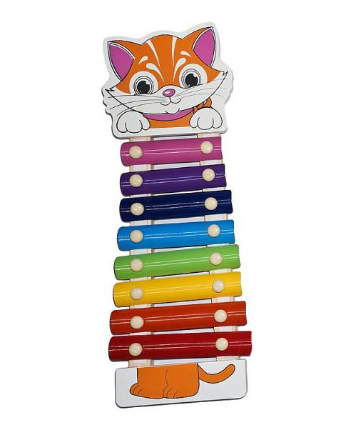Деревянная игрушка Ксилофон MD0712 (Котик)