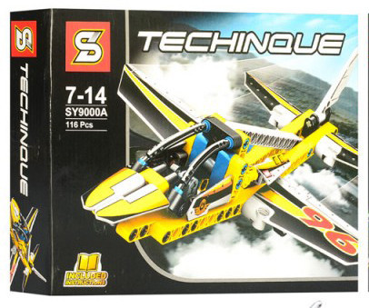 Конструктор SENCO SY9000A TECHNICS -  Самолет (116 дет.)