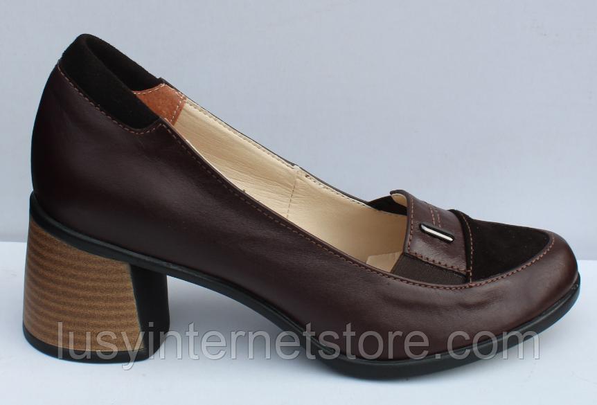 Туфли кожаные женские на каблуке от производителя модель ФТ38