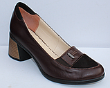 Туфли кожаные женские на каблуке от производителя модель ФТ38, фото 2
