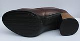 Туфли кожаные женские на каблуке от производителя модель ФТ38, фото 4