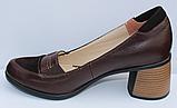 Туфли кожаные женские на каблуке от производителя модель ФТ38, фото 3