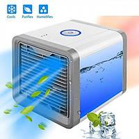 Мини кондиционер мобильный USB переносной портативный охладитель вентилятор увлажнитель воздуха с LED подсветкой Arctic Air