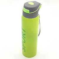 Пляшка термос для води напоїв з трубочкою поїлкою спортивна сталева 500 мл SPORT зелена
