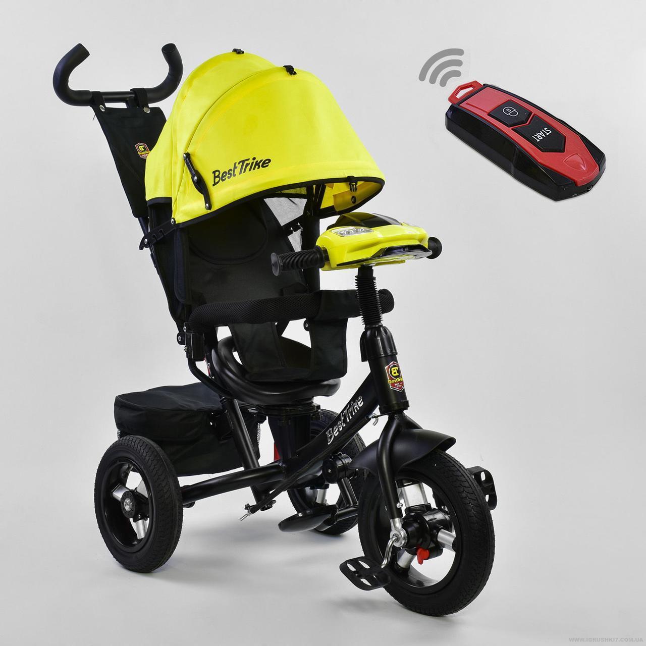 Велосипед BEST TRIKE 7700B-7210 желтый (с пультом)