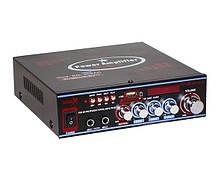 Усилитель звука с пультом Bluetooth караоке 2х50 Вт MP3 USB Micro SD FM UKC SN-308BT
