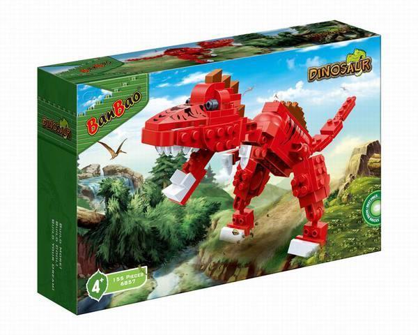 Конструктор BanBao 6857 ДИНОЗАВРЫ - Тиранозавр (155 дет.)