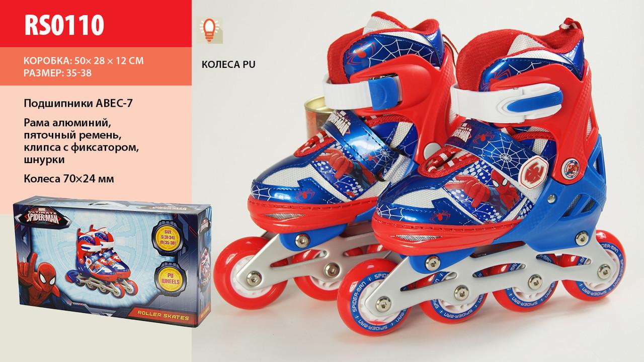 Ролики DISNEY RS0110 35-38 Спайдермен