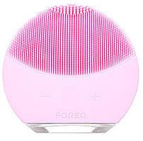 Масажер силіконова щіточка для чистки особи акумуляторний UKC Форео Luna Mini рожевий