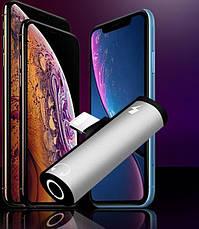 ПЕРЕХОДНИК для Айфона наушники 3.5мм+light 7 8 X Xr Xs iPhone/Адаптер, фото 3