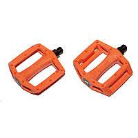 Педалі Kench USA на БМХ нейлон-пластик з литим шипом помаранчеві
