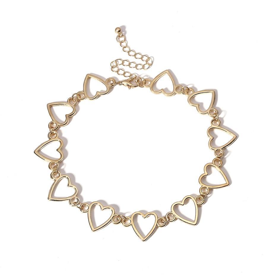 Золотистая женская цепочка чокер код 1860