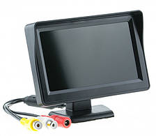 """Монитор автомобильный для двух камер UKC TFT LCD 4,3"""" черный"""