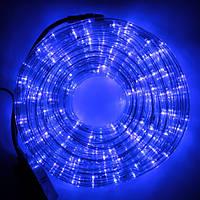 Светодиодная LED новогодняя гирлянда прозрачный силиконовый шланг 9.8 м Дюралайт неоновый