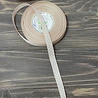 Лента репс в  горох 1,2 см. беж, фото 1