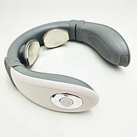 Масажер для шиї акумуляторний 3 програми Smart Neck Massager 4335 білий
