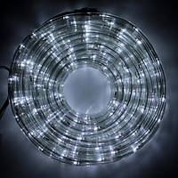 Світлодіодна LED новорічна гірлянда прозорий силіконовий шланг 9.8 м Дюралайт білий