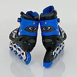 Ролики BEST ROLLERS 0817 40-43 синий, фото 4
