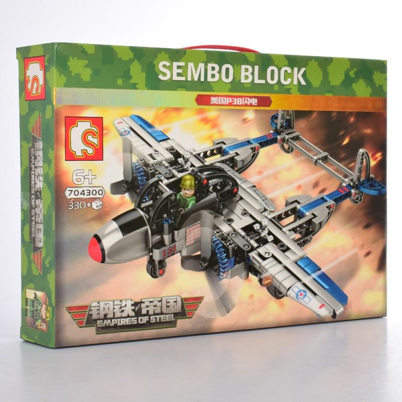 Конструктор SEMBO 704300 TECHNICS -  Самолет (330 дет.)