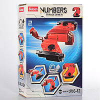 """Конструктор SLUBAN M38-B0819C """"Numbers"""": 2 в 1 (транспорт, цифра), 99 дет."""