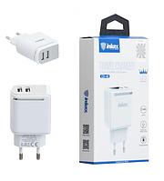 Зарядное устройство USB inkax CD-48 White 2USB display 2,4A