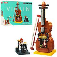 "Конструктор SLUBAN M38-B0817 ""Creator"": будиночок-скрипка, барабан, фігурки, 308 дет."