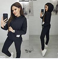 Женский весенний спортивный костюм новинка 2020 цвет черный.