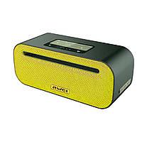 Портативна Bluetooth колонка звук Hi-Fi з дизайном об'ємного звуку функція NFC 2600 мА Awei Y600 жовтий