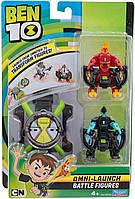 Часы Бен Тен и 2 фигурки трансформеры, Ben 10 Оригинал Пусковое устройство-Космические часы - Омнитрикс, фото 1