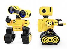 Интерактивный умный программируемый робот запись голосовых сообщений танцует пульт 2.4G CADY WIRI K13 желтый