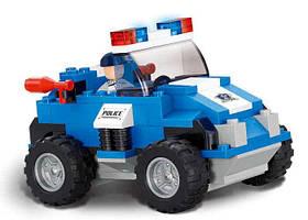 Конструктор SLUBAN M38-B0183 ПОЛИЦЕЙСКИЙ СПЕЦНАЗ - Полицейский автомобиль (121 дет.)