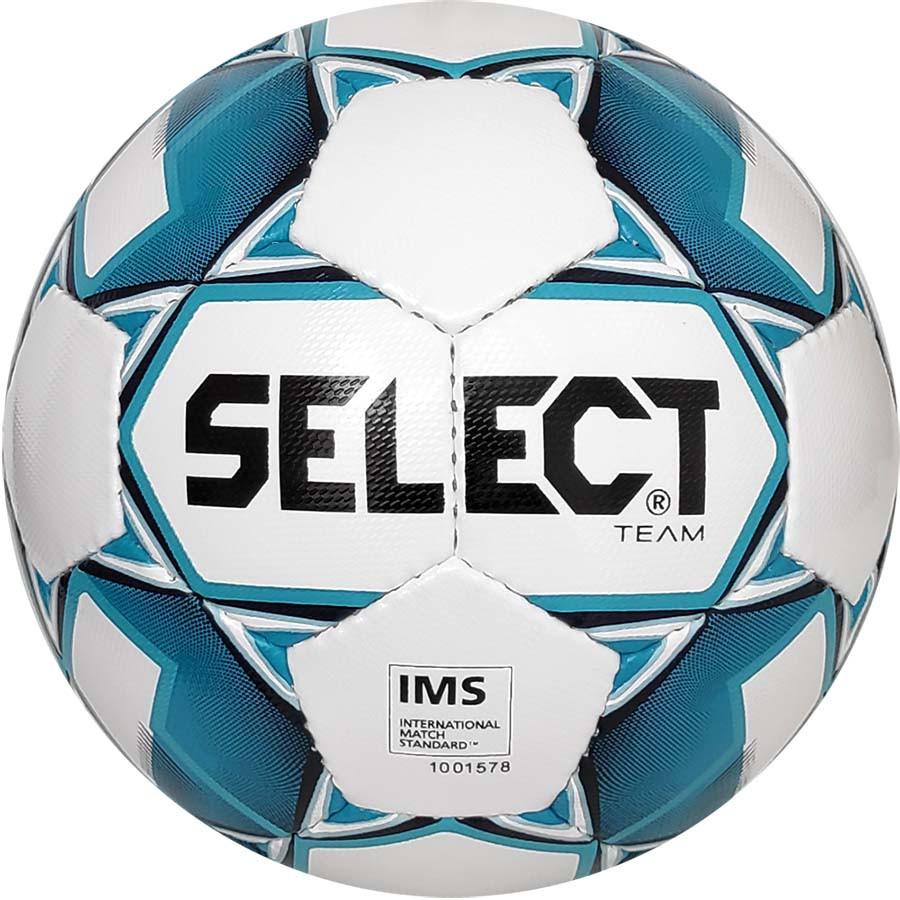Мяч футбольный SELECT Team IMS (014) бело-голубой р.5