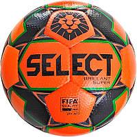 Мяч футбольный SELECT Brillant Super FIFA PFL (015) оранжево-серый р.5