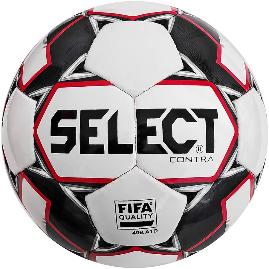 М'яч футбольний SELECT Contra FIFA (014) біло-чорно-червоний р. 4
