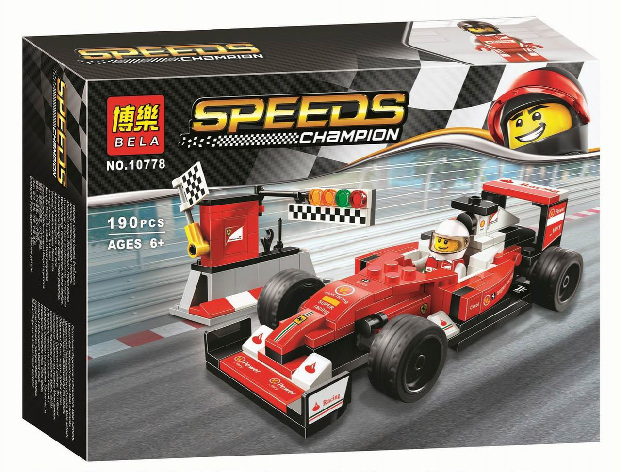 Конструктор BELA 10778 Speeds Champions -  Scuderia Ferrari SF16-H (190 дет.)